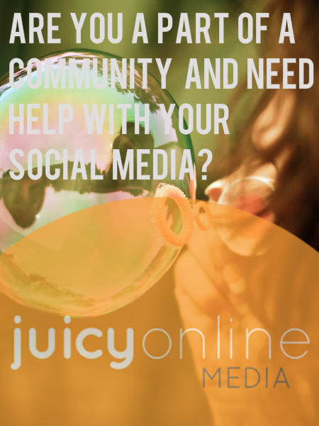 Community Organisation and Not for Profit Social Media Marketing - Speak with Juicy Online Media